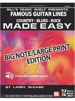 Famous Guitar Lines Made Easy - Big Note/Large Print Edition Books | Guitar