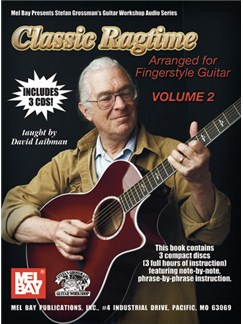 David Laibman: Classic Ragtime - Volume 2 Books and CDs | Guitar Tab, Guitar