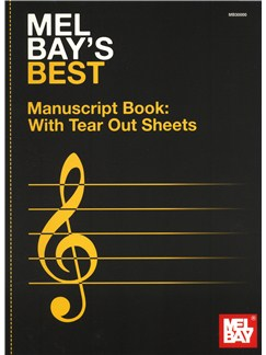 Mel Bay's Best Manuscript Book (12 Stave) Books | All Instruments