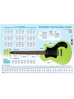 Children's Guitar Reference Wall Chart  | Guitar