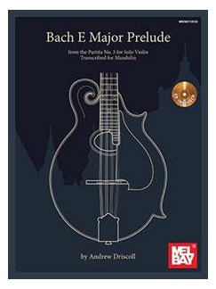 Bach E Major Prelude Transcribed For Mandolin: Book/CD Set Books | Mandolin
