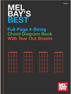 Mel Bay's Best Full-Page 4-String Chord Diagram Book Books   Banjo, Mandolin, Ukulele