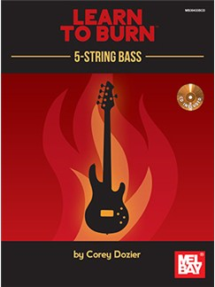 Learn To Burn: 5-String Bass Guitar (Book/CD Set) Books and CDs | Bass Guitar