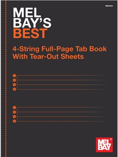 Mel Bay's Best 4-String Full-Page Tab Book With Tear-Out Sheets  |