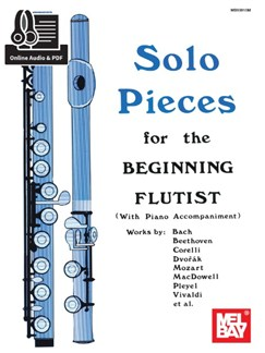 Solo Pieces For The Beginning Flutist (Book/Online Audio) Books and Digital Audio | Flute, Piano Accompaniment
