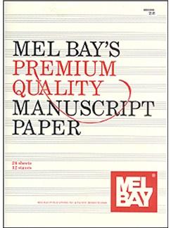 Premium Quality Manuscript Paper Twelve-Stave Quire (24) Books | All Instruments