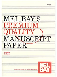 Premium Quality Manuscript Paper Ten-Stave Quire (24) Books | All Instruments
