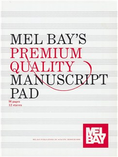 Premium Quality Manuscript Pad 12-Stave Books | All Instruments