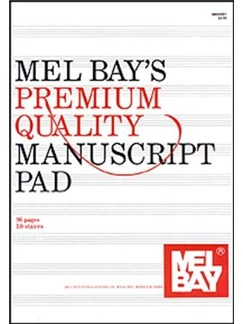 Premium Quality Manuscript Pad Ten-Stave Books | All Instruments