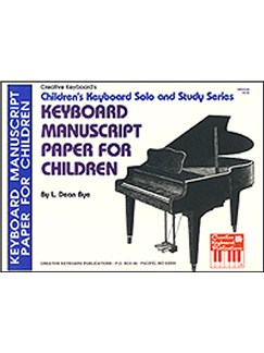 Keyboard Manuscript Paper for Children Books | Piano