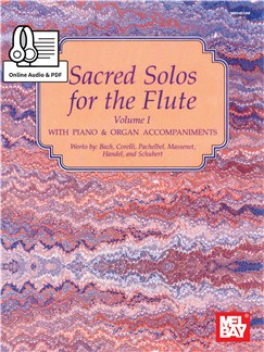 Sacred Solos For The Flute - Volume 1 (Book/Online Audio) Books and Digital Audio | Flute/Piano Accompaniment
