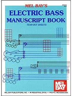 Electric Bass Manuscript Book Books | Bass Guitar, Bass Guitar Tab