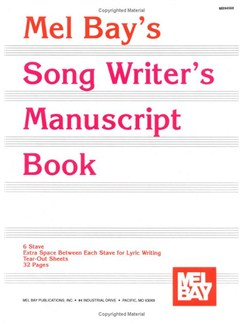 Song Writer's Manuscript Book Books | All Instruments