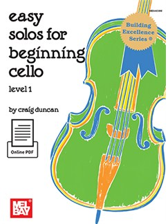 Craig Duncan: Easy Solos For Beginning Cello - Level 1 (Book/Online PDF) Books and Digital Audio | Cello