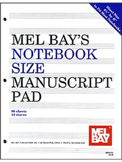 Notebook-Size Manuscript Pad 10-Stave Books | All Instruments