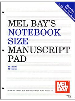 Notebook-Size Manuscript Pad 12-Stave Books | All Instruments