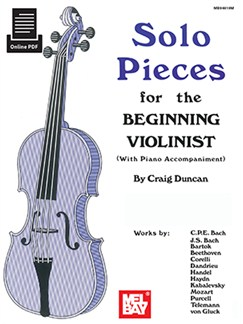 Craig Duncan: Solo Pieces For The Beginning Violinist (Book/Online PDF Supplement) Books and Digital Audio | Violin, Piano Accompaniment