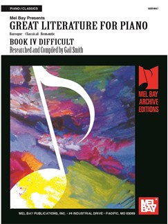 Great Literature For Piano Book 4 (Difficult) Books | Piano