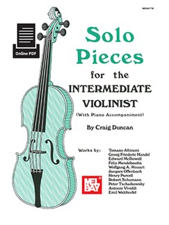 Solo Pieces For The Intermediate Violinist (Book/Online Audio) Books and Digital Audio | Violin, Piano Accompaniment