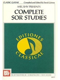 Complete Sor Studies for Guitar Books | Guitar