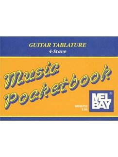 Music Pocketbook: Guitar Tablature (4-Stave) Books | Guitar