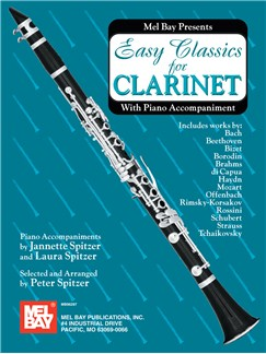 Easy Classics for Clarinet - With Piano Accompaniment Books | Clarinet