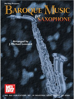 Baroque Music for Saxophone Books | Alto Saxophone, Piano Accompaniment