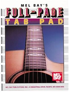 Full Page Tab Pad Books | Guitar, Guitar Tab
