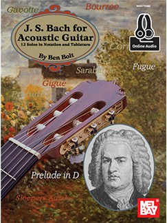 Ben Bolt: J.S. Bach For Acoustic Guitar (Book/Online Audio) Books and Digital Audio | Guitar