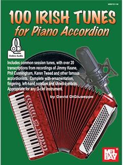 David DiGiuseppe: 100 Irish Tunes For Piano Accordion (Book/Online Audio) Audio Digital y Libro | Acordeón