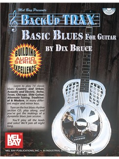 Dix Bruce: Backup Trax Basic Blues Guitar (Book and CD) Books and CDs | Guitar, Guitar Tab