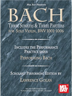 Bach: Three Sonatas and Three Partitas for Solo Violin Books | Violin