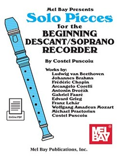 Solo Pieces For The Beginning Descant/Soprano Recorder (Book/Online Audio) Books | Recorder