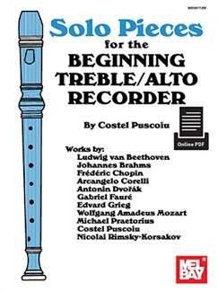 Costel Puscoiu: Solo Pieces For The Beginning Treble/Alto Recorder (Book/Online PDF Supplement) Books and Digital Audio | Recorder