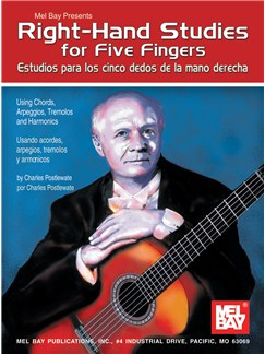 Right-Hand Studies for Five Fingers Books | Guitar