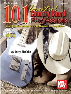 101 Essential Country Chord Progressions Books and CDs | Guitar