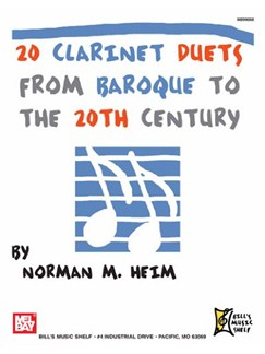 20 Clarinet Duets from Baroque to the 20th Century Books | Clarinet