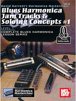David Barrett: Blues Harmonica Jam Tracks And Soloing Concepts #1 (Book/Online Audio) Books and Digital Audio | Harmonica