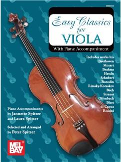 Easy Classics for Viola - With Piano Accompaniment Books   Viola