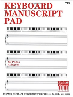 Keyboard Manuscript Pad Books | Piano