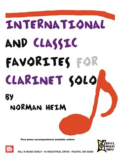 International and Classic Favorites for Clarinet Solo Books | Clarinet