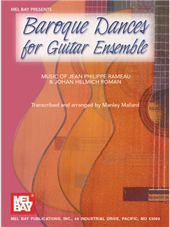 Baroque Dances for Guitar Ensemble Books | Guitar