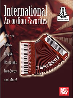 Bruce Bollerud: International Accordion Favorites (Book/Online Audio) Books and Digital Audio | Accordion