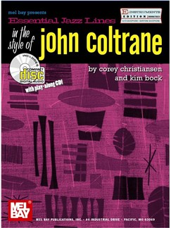 Essential Jazz Lines: Eb in the Style of John Coltrane Books and CDs | Alto Saxophone