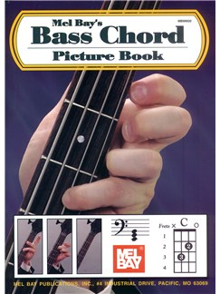 Mel Bay's Bass Chord Picture Book Books | Bass Guitar