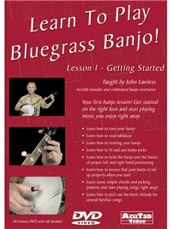 Learn to Play Bluegrass Banjo, Lesson 1 DVDs / Videos | Banjo