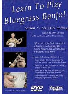 Learn to Play Bluegrass Banjo, Lesson 2 DVDs / Videos | Banjo, Banjo Tab