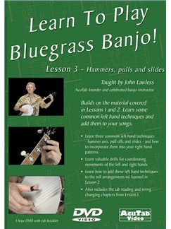 Learn To Play Bluegrass Banjo, Lesson 3 DVDs / Videos | Banjo