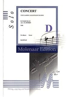 Benedetto Marcello: Concerto In C Minor Books | Clarinet, Soprano Sax, Oboe, Piano Accompaniment
