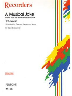 W.A. Mozart: A Musical Joke (Recorder Trio) Books | Recorder (Trio)